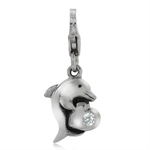 White CZ 925 Sterling Silver Dolph...