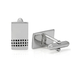 Black Enamel 925 Sterling Silver Rectangle Men Cufflinks