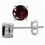 1.28ct. Natural Garnet 925 Sterlin...