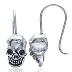Skull 925 Sterling Silver Hook Ear...