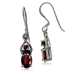 1.98ct. Natural Garnet 925 Sterling Silver Dangle Earrings