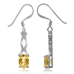 1.52ct. Natural Citrine 925 Sterling Silver Dangle Earrings