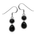 Natural Black Onyx White Gold Plat...