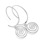 925 Sterling Silver Spiral Threade...