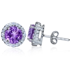 2.42ct. Natural Amethyst & White T...