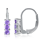Petite 3-Stone Natural Amethyst Wh...