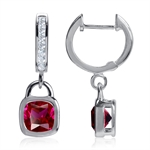 Simulated Ruby 925 Sterling Silver...