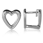 12MM 925 Sterling Silver Heart Huggie Earrings
