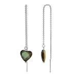 Black Mother Of Pearl Heart with C...