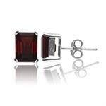 3.72ct. Natural Garnet 925 Sterling Silver Stud Earrings