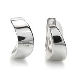 Curvy 925 Sterling Silver Huggie/H...