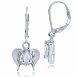 White CZ 925 Sterling Silver Angel...