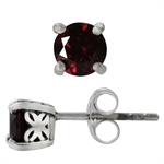 1.18ct. Natural Garnet 925 Sterling Silver Butterfly Stud Earrings