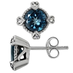 3.1ct. Genuine London Blue & White...
