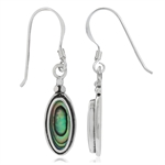 Abalone/Paua Shell Inlay 925 Sterling Silver Drop Dangle Earrings