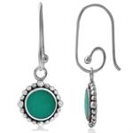 Green Turquoise 925 Sterling Silver Balinese Interchangeable Earrings
