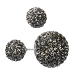 DIOR Style Mise En Tribal Black Diamond Crystal 925 Sterling Silver Earrings