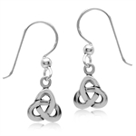 925 Sterling Silver Celtic Knot Dangle Earrings