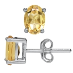 1.42ct. Natural Citrine 925 Sterling Silver Stud Earrings