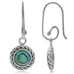 Abalone/Paua Shell 925 Sterling Silver Rope Interchangeable Earrings