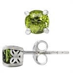 1.14ct. Natural Peridot 925 Sterling Silver Butterfly Stud Earrings