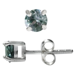 Petite Simulated Color Change Alexandrite 925 Sterling Silver Stud Earrings