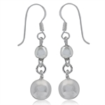 925 Sterling Silver Ball Dangle Earrings