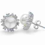 Cultured White Pearl & White CZ 92...