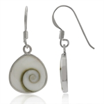 Shiva Shell Inlay 925 Sterling Silver Drop Dangle Earrings