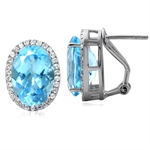 16.58ct. Genuine Blue Topaz White ...