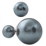 DIOR Style Mise En Tribal Immitation Pearl 925 Sterling Silver Earrings