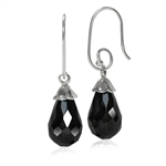 Drop Shape Black CZ Briolette 925 ...