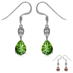 Synthetic Color Change Diaspore White Gold Plated 925 Sterling Silver Drop Dangle Hook Earrings