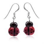 Red Ladybug Glass Bead 925 Sterlin...