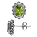 1.58ct. Natural Peridot White Gold...