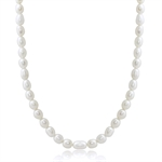 4.5MM Cultured White Pearl 925 Sterling Silver 16-18 Inch Adjustable Necklace