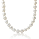 6MM Cultured White Pearl 925 Sterling Silver 16-18 Inch Adjustable Necklace