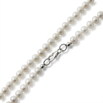 4.5MM Cultured White Pearl 925 Sterling Silver Girl's Necklace - 15 Inch