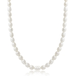 4.5MM Cultured White Pearl 925 Sterling Silver Girl&#39s 14-16 Inch Adjustable Necklace