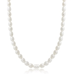 4.5MM Cultured White Pearl 925 Sterling Silver 17-19 Inch Adjustable Necklace