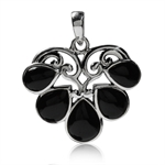Created Black Onyx 925 Sterling Si...