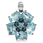 7.69ct Genuine Blue Topaz & London...