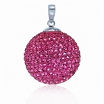 19MM Rose Pink Sterling Silver Cry...