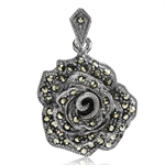 Marcasite Antique Finish 925 Sterl...