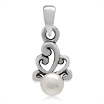5MM Cultured White Pearl 925 Sterl...