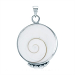 Shiva Shell Inlay Sterling Silver Pendant