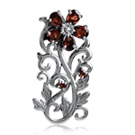 2.81ct. Natural Garnet 925 Sterlin...