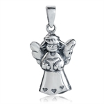 925 Sterling Silver FAIRY ANGLE Pendant