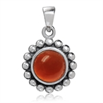 8MM Natural Carnelian 925 Sterling...