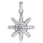 925 Sterling Silver Snowflake Pend...